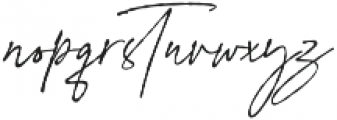 Signature Flavour otf (400) Font LOWERCASE