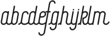 Signature Medium otf (500) Font LOWERCASE