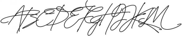 Signature Regular ttf (400) Font UPPERCASE