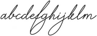 Signature Regular ttf (400) Font LOWERCASE
