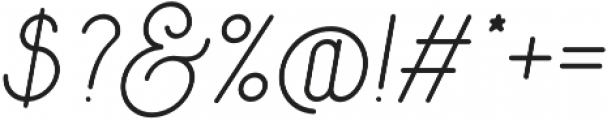 Signature otf (400) Font OTHER CHARS