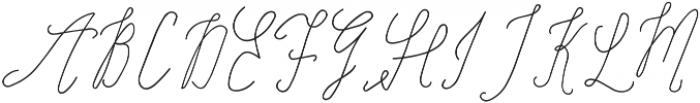 SignatureScript ttf (400) Font UPPERCASE