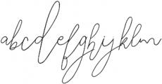 SignatureScript ttf (400) Font LOWERCASE