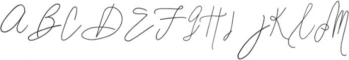 SignatureScript1Alternative ttf (400) Font UPPERCASE