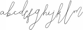 SignatureScript1Alternative ttf (400) Font LOWERCASE