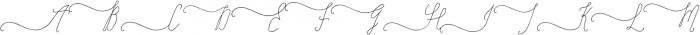 SignatureScript1Left ttf (400) Font UPPERCASE