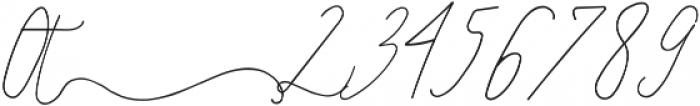 SignatureScript1Right ttf (400) Font OTHER CHARS