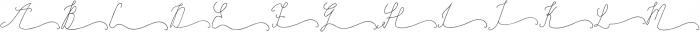 SignatureScript1Right ttf (400) Font UPPERCASE