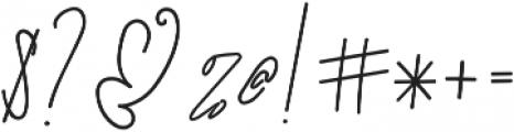 SignatureScriptBold ttf (700) Font OTHER CHARS
