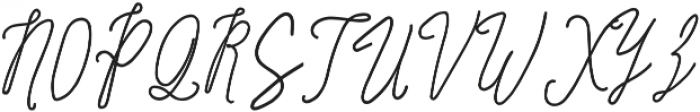 SignatureScriptBold ttf (700) Font UPPERCASE