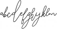 SignatureScriptBold ttf (700) Font LOWERCASE