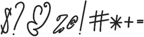 SignatureScriptExtraBold ttf (700) Font OTHER CHARS