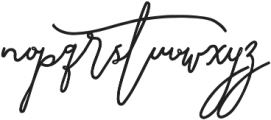 SignatureScriptExtraBold ttf (700) Font LOWERCASE