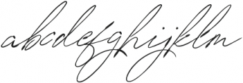 SignatureVP Regular otf (400) Font LOWERCASE