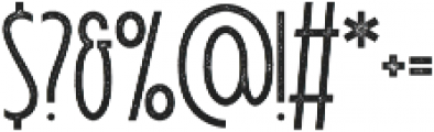 Signist 05 Rough otf (400) Font OTHER CHARS