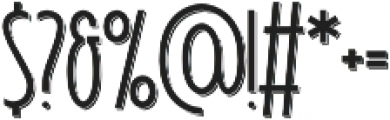 Signist 05 Shadow otf (400) Font OTHER CHARS