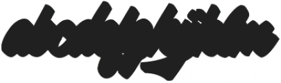 Silent Fighter Shadow otf (400) Font LOWERCASE