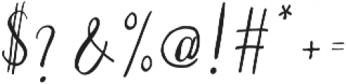 Silex otf (400) Font OTHER CHARS