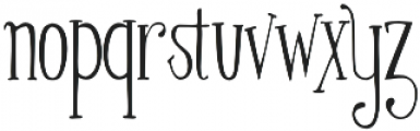 Silhouette otf (400) Font LOWERCASE