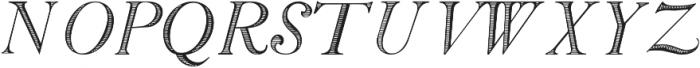 SiliusEngraved ttf (400) Font UPPERCASE