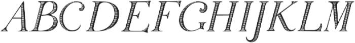 SiliusEngraved ttf (400) Font LOWERCASE