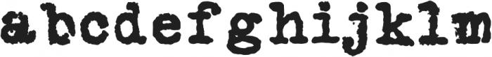 Silk RemingtonBRough otf (400) Font LOWERCASE