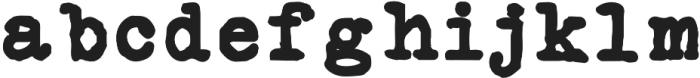 Silk RemingtonBold otf (700) Font LOWERCASE