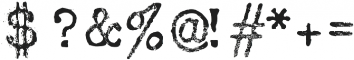 Silk RemingtonRRough otf (400) Font OTHER CHARS