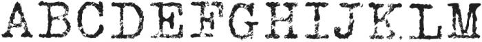 Silk RemingtonRRough otf (400) Font UPPERCASE