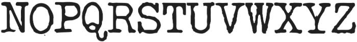Silk RemingtonReg otf (400) Font UPPERCASE