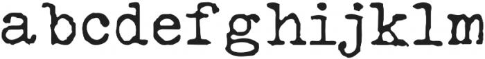 Silk RemingtonReg otf (400) Font LOWERCASE