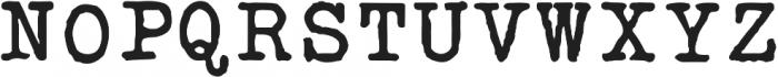 Silk RemingtonSBold otf (700) Font UPPERCASE