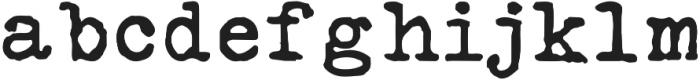 Silk RemingtonSBold otf (700) Font LOWERCASE