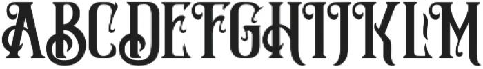 Silver Creek  Regular otf (400) Font UPPERCASE