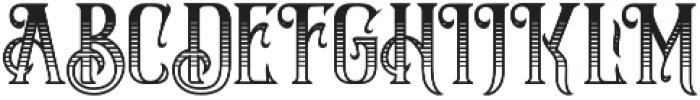 Silver Creek shadows Regular otf (400) Font UPPERCASE