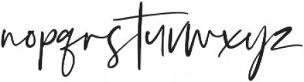 Silver South Script ttf (400) Font LOWERCASE