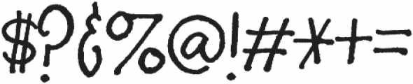 Silverstein Regular otf (400) Font OTHER CHARS