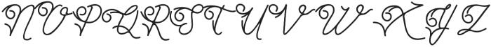 Simbok Pudjie Decorative otf (400) Font UPPERCASE