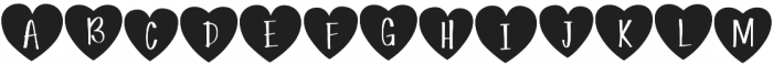 Simple Love Heart Display otf (400) Font UPPERCASE