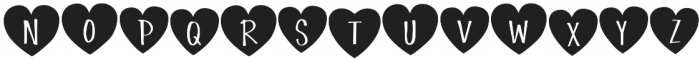 Simple Love Heart Display otf (400) Font LOWERCASE