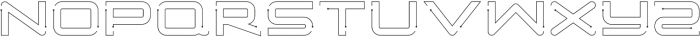 Simple Tech Outline 02 otf (400) Font LOWERCASE