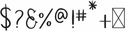 Simplicity Regular otf (400) Font OTHER CHARS