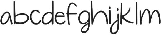 Simplicity Regular otf (400) Font LOWERCASE