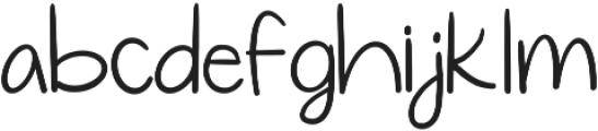Simplicity Regular ttf (400) Font LOWERCASE