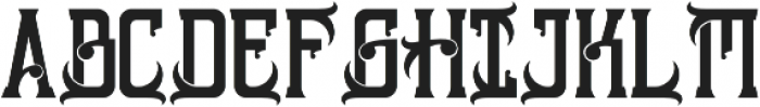 Sinara otf (400) Font UPPERCASE