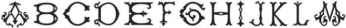 Single Antique Chic otf (400) Font UPPERCASE