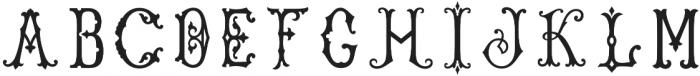 Single Antique Chic otf (400) Font LOWERCASE