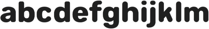 Sinuous otf (700) Font LOWERCASE