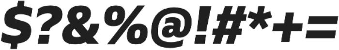 Siro ExtraBold Italic otf (700) Font OTHER CHARS