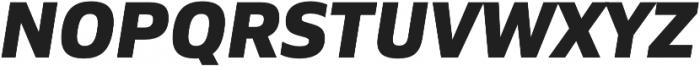 Siro ExtraBold Italic otf (700) Font UPPERCASE